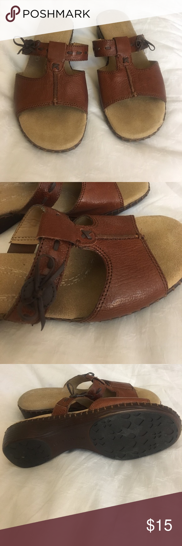 Open back sandals Gently used , comfortable Birkenstock  shoes.  Size 7 Birkenstock Shoes Sandals
