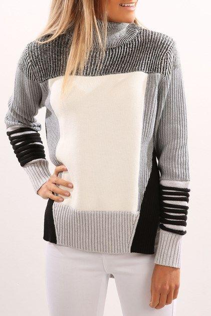 61499cfaa764 Revenant Knit Sweater Multi Grey