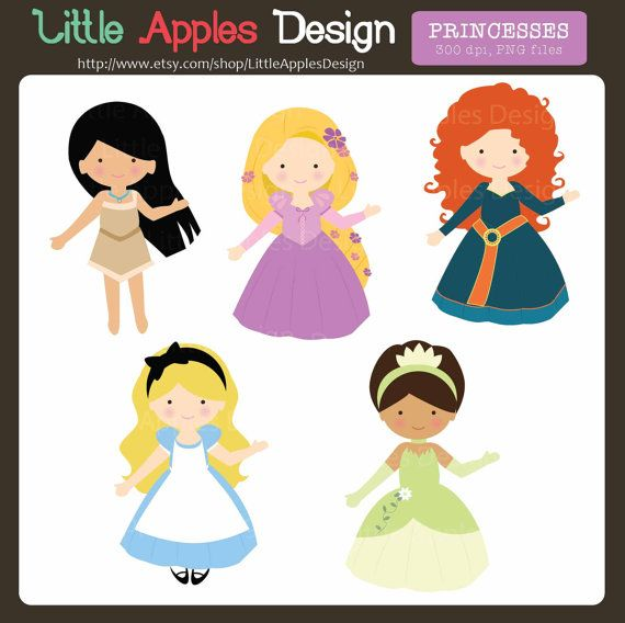 princess clip art princess clipart cute by littleapplesdesign rh pinterest ca clip art princess theme clip art princesses