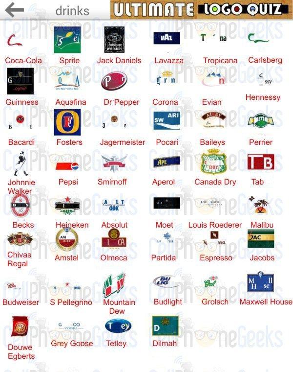 Logo Quiz Ultimate Drinks Ultimate Logo Quiz Answers