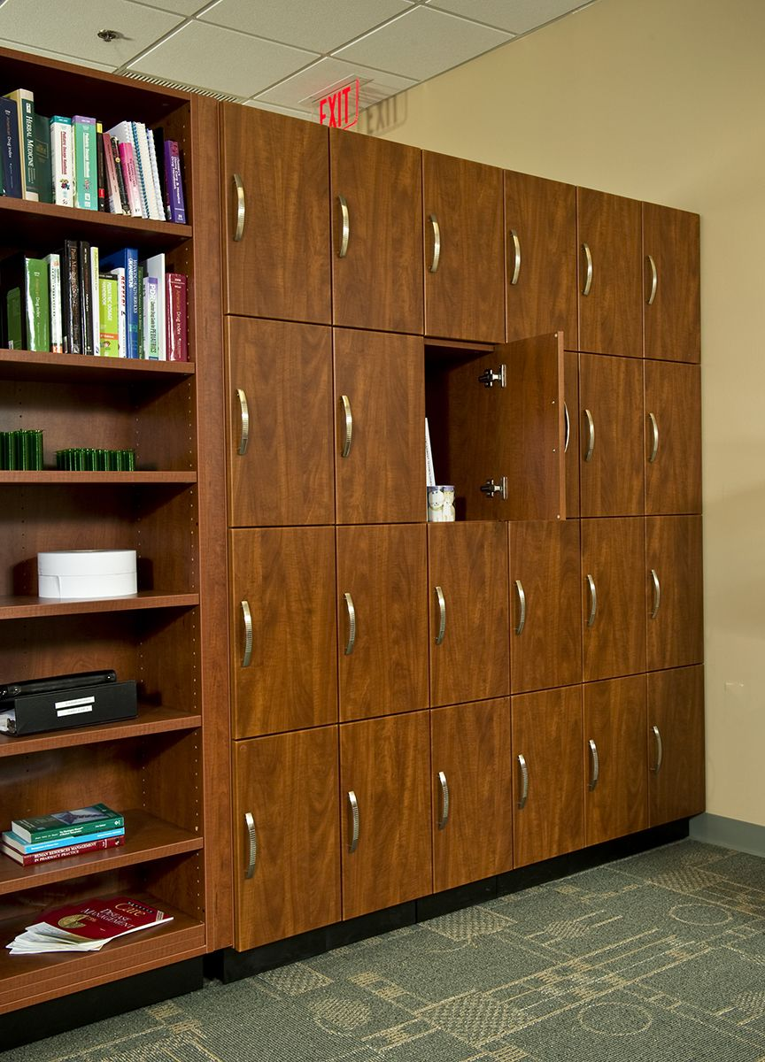 Personal Lockers By Hamilton For Hospital Pharmacy Employees Office Cabinets Modern Office Modern Interior Decor