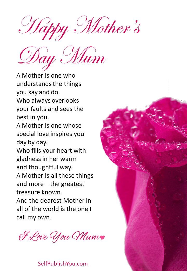 I Love You Mum Happy Mother 39 S Day Poem Mothersday