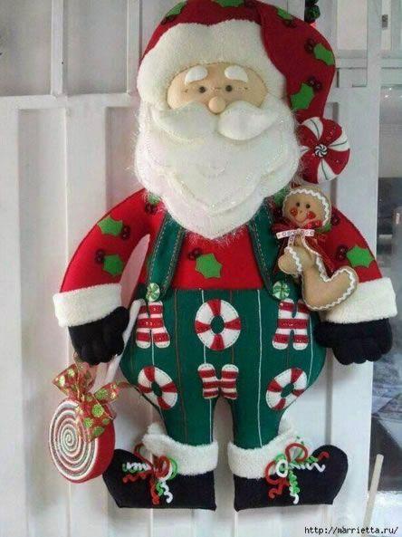 Mais 10 Moldes De Papai Noel De Feltro Para Imprimir Papai