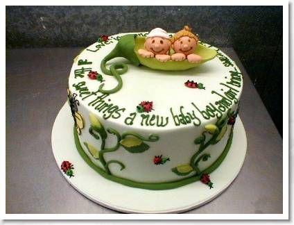 change to first birthday twinstuff pinterest shower cakes