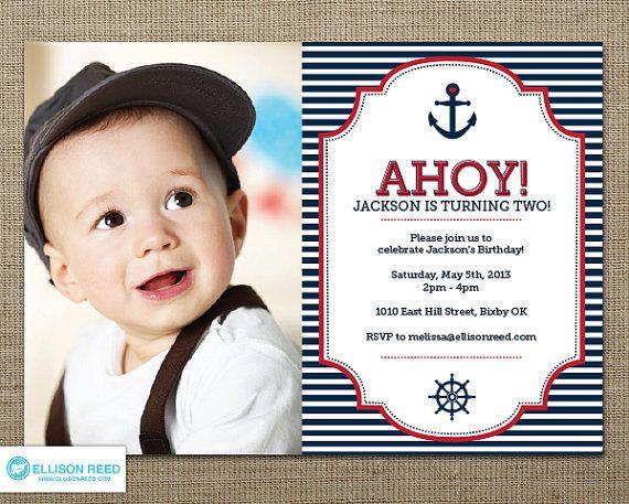 Nautical Invitation Nautical Printable First Birthday