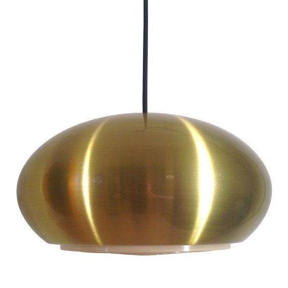 249€ - MEDIO pendant by Jo Hammerborg - 1966 - Fog & Mørup. Danish design lighting. Iconic space age hanging lamp in very good vintage condition.