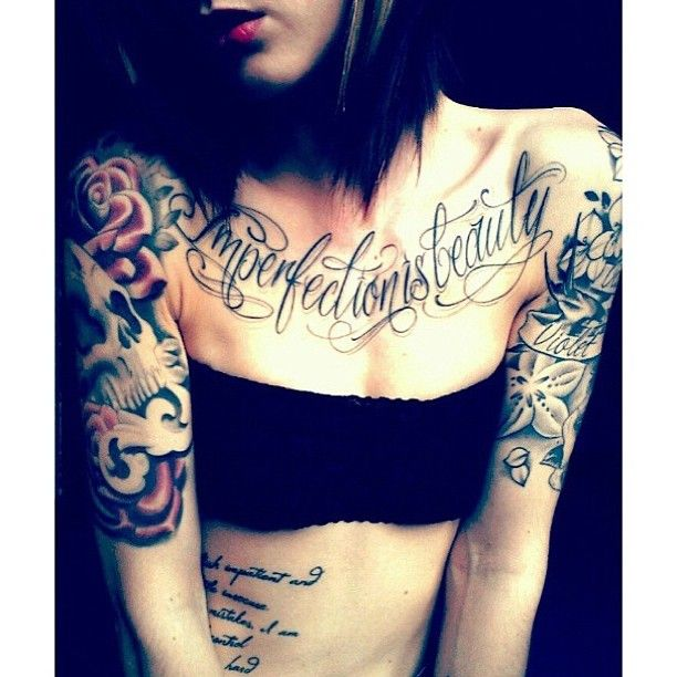 imperfection is beauty tattoos pinterest girls beauty and tattoos and body art. Black Bedroom Furniture Sets. Home Design Ideas