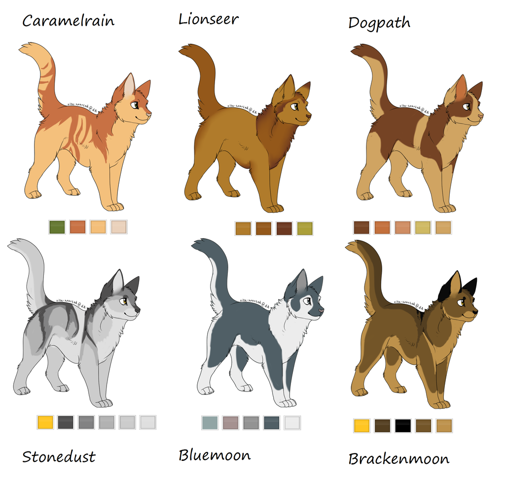 Stonedust and Bluemoon are mine Warrior Cats Pinterest