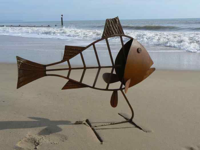 large outdoor metal sculptures fish - Google Search ...