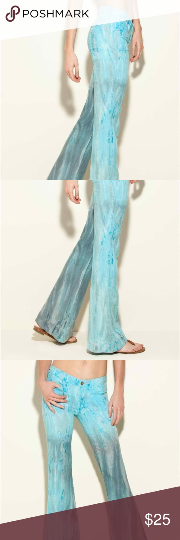 New GUESS Brittney Flare Linen Pants Boutique Flared