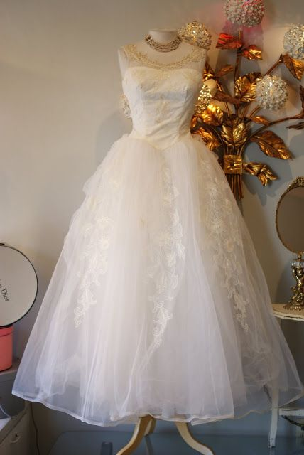 1950 S Tulle Wedding Dress Vintage Dresses Wedding Dresses Vintage Wedding Gowns Vintage