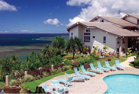 Wyndham Shearwater, Kauai, HI.  THe BEST view from the lanai of Anini Reef.