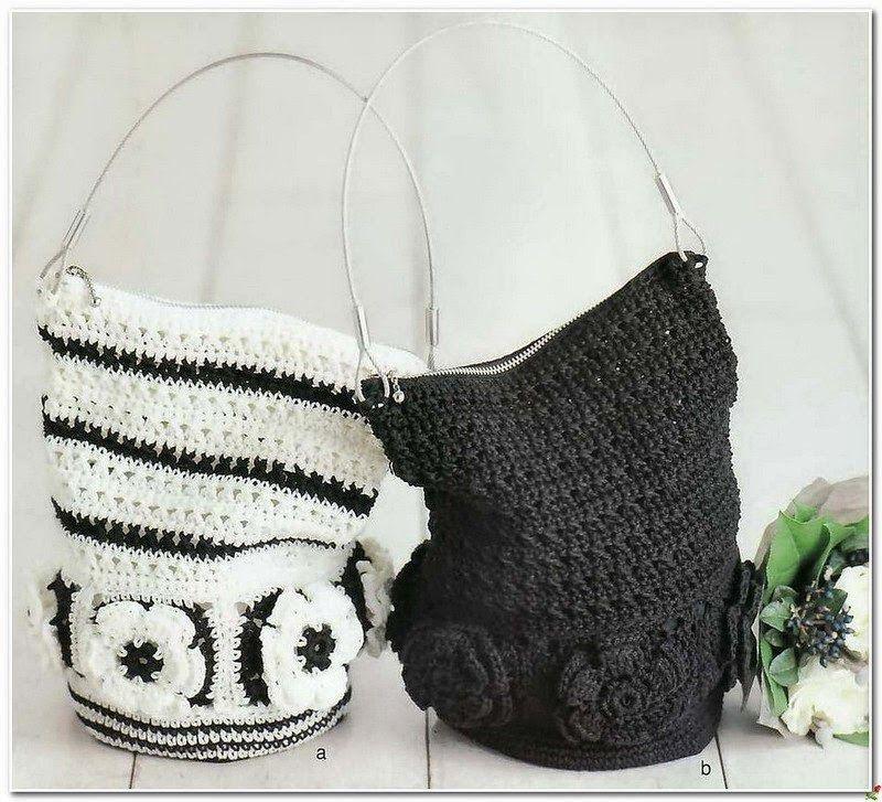 Bolso Saco de Crochet con Flores Patron - Patrones Crochet   Crochet ...