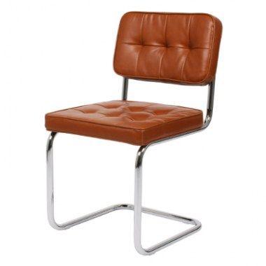Eetkamerstoelen modjo vintage stoel cognac eetkamer for Bauhaus stoel leer