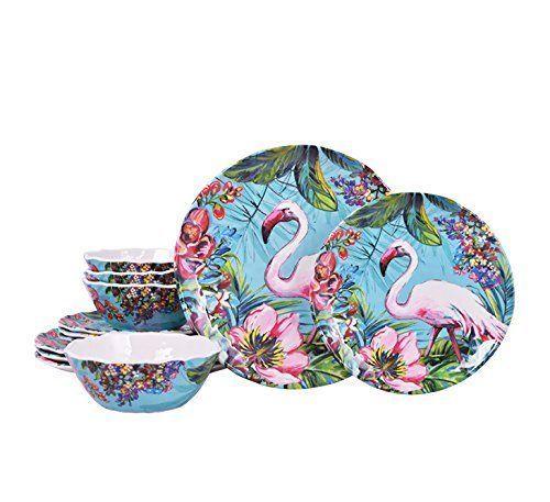 Flamingo dishes