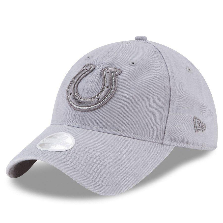 Women s Indianapolis Colts New Era Gray Team Glisten 9TWENTY Adjustable Hat eb42543c7b