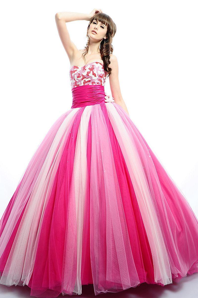 Fucsia, rosa, blanco.... te veras bella! | vestido quinceañeros ...
