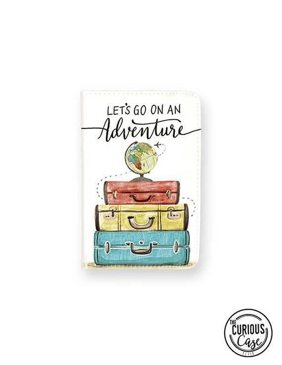 passport case lets go on an adventure passport cover passport
