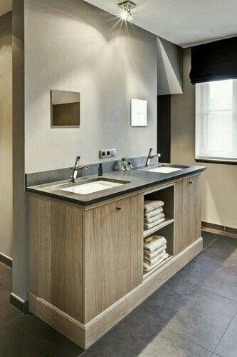 Pin van mijn stijl op bathroom pinterest badkamer badkamers en landelijk wonen - Badkamers bassin italiaanse design ...