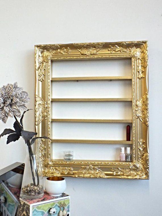 gold baroque 16x20 frame display polish rack salon display nail