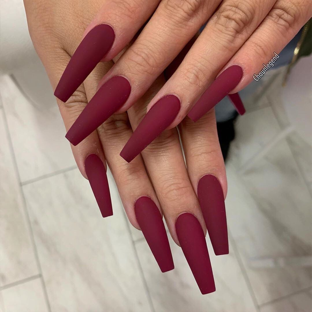 A Glass Of Wine A Day Keeps The Doctor Away Or Something Like That Grab Your Nailart Red Acrylic Nails Burgundy Nails Long Acrylic Nails