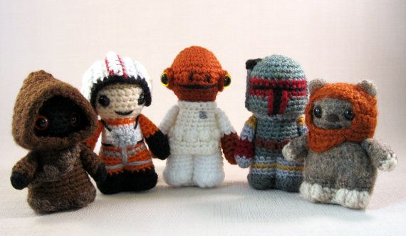 Amigurumi Star Wars Patterns : Pdfs of any 6 star wars mini amigurumi patterns by lucyravenscar