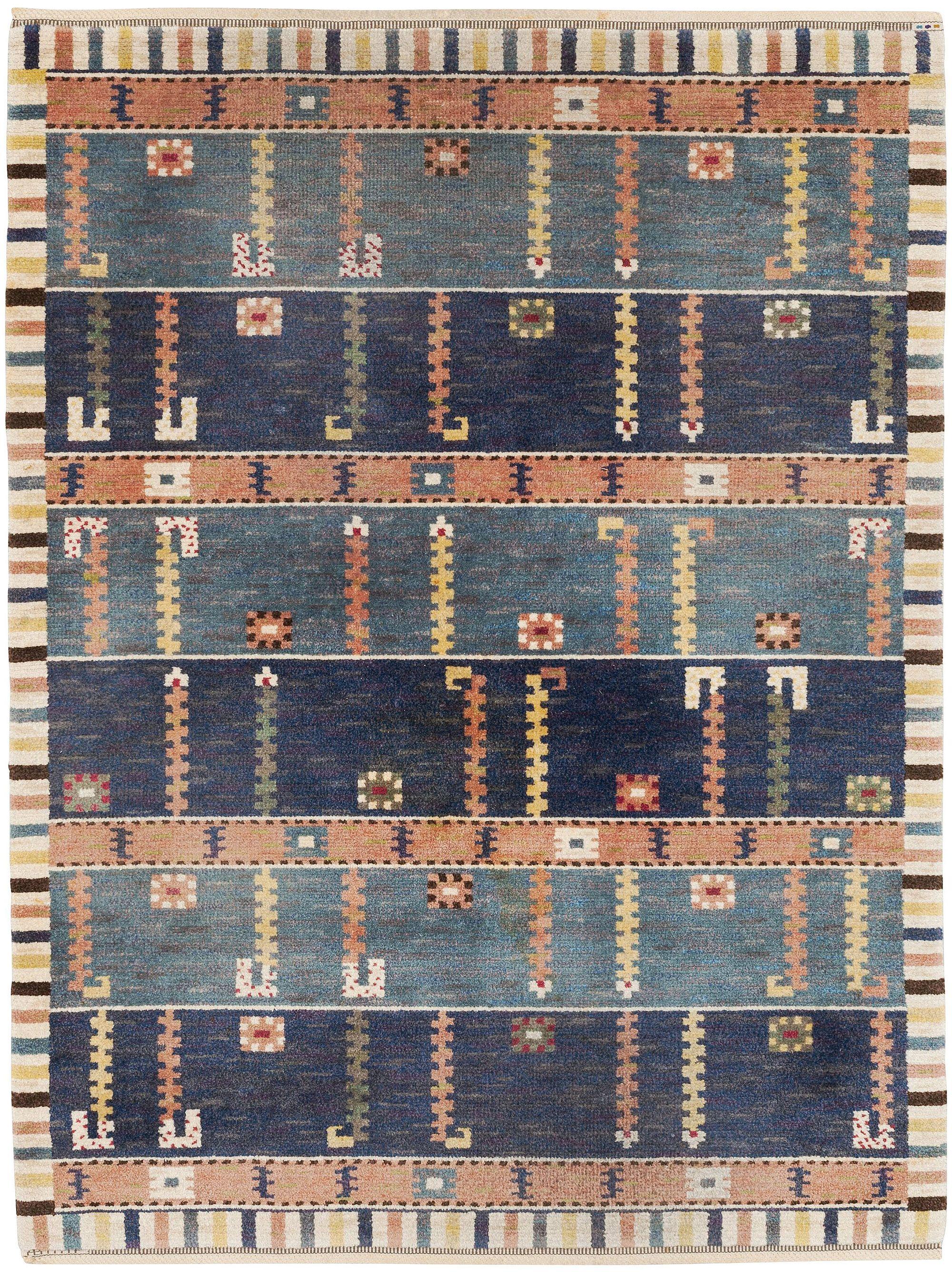 A Swedish Pile Rug Standaren By Marta Maas Fjetterstrom Bb5382 By Doris Leslie Blau 8 1 X 6 2 Scandinavian Rug Swedish Rug Carpet Handmade