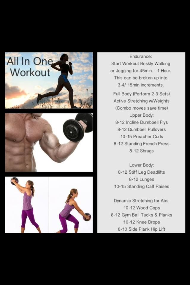 All In One Workout Weight Training Programs Bodybuilding Training Full Body Workout