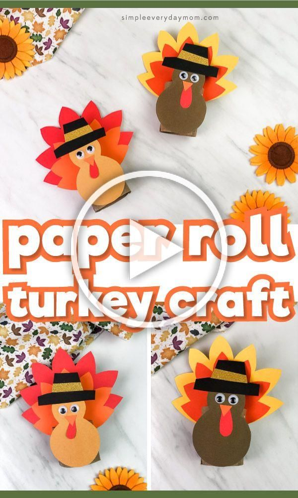 Make this paper roll turkey craft for Thanksgiving. Its a fun recycled craft for children and comes