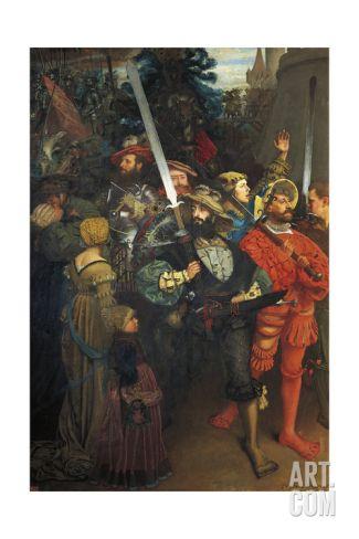 Departure of Landsknechts, 1868 Giclee Print