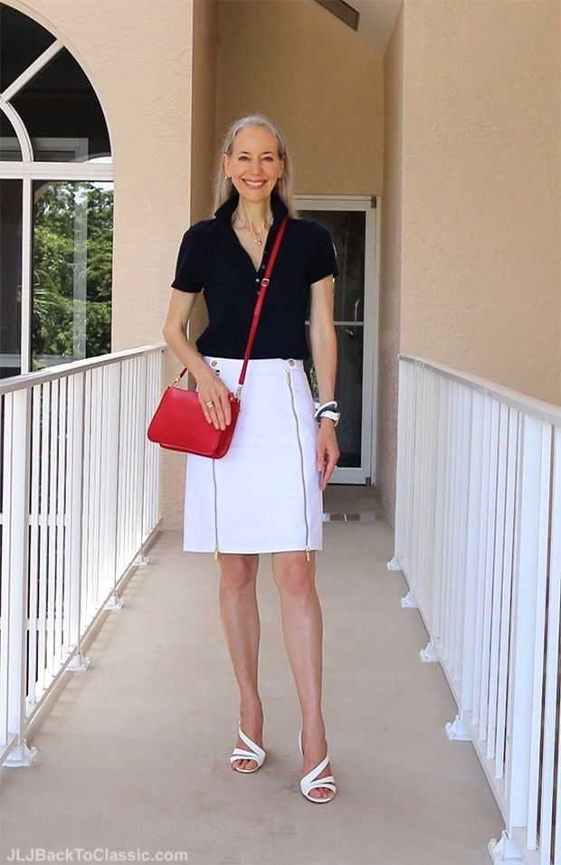 (Video) Classic Fashion Over 40/Understated 4th of July Pairing of Red, White, and Blue
