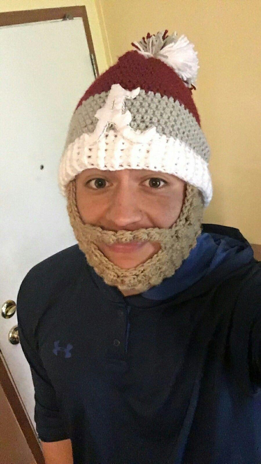Alabama crochet beard hat | gorro barba | Pinterest
