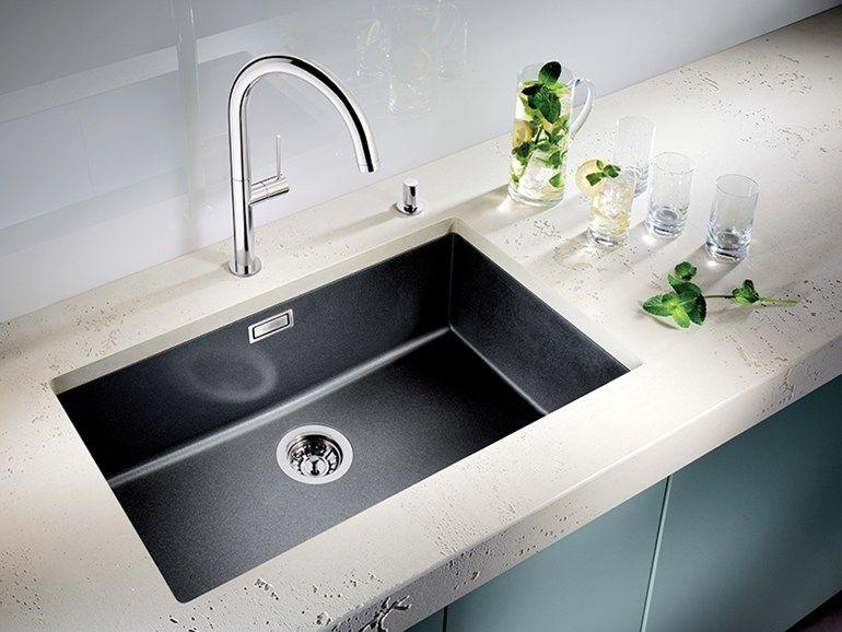 Lavello a una vasca da incasso in Silgranit® BLANCO SUBLINE ...