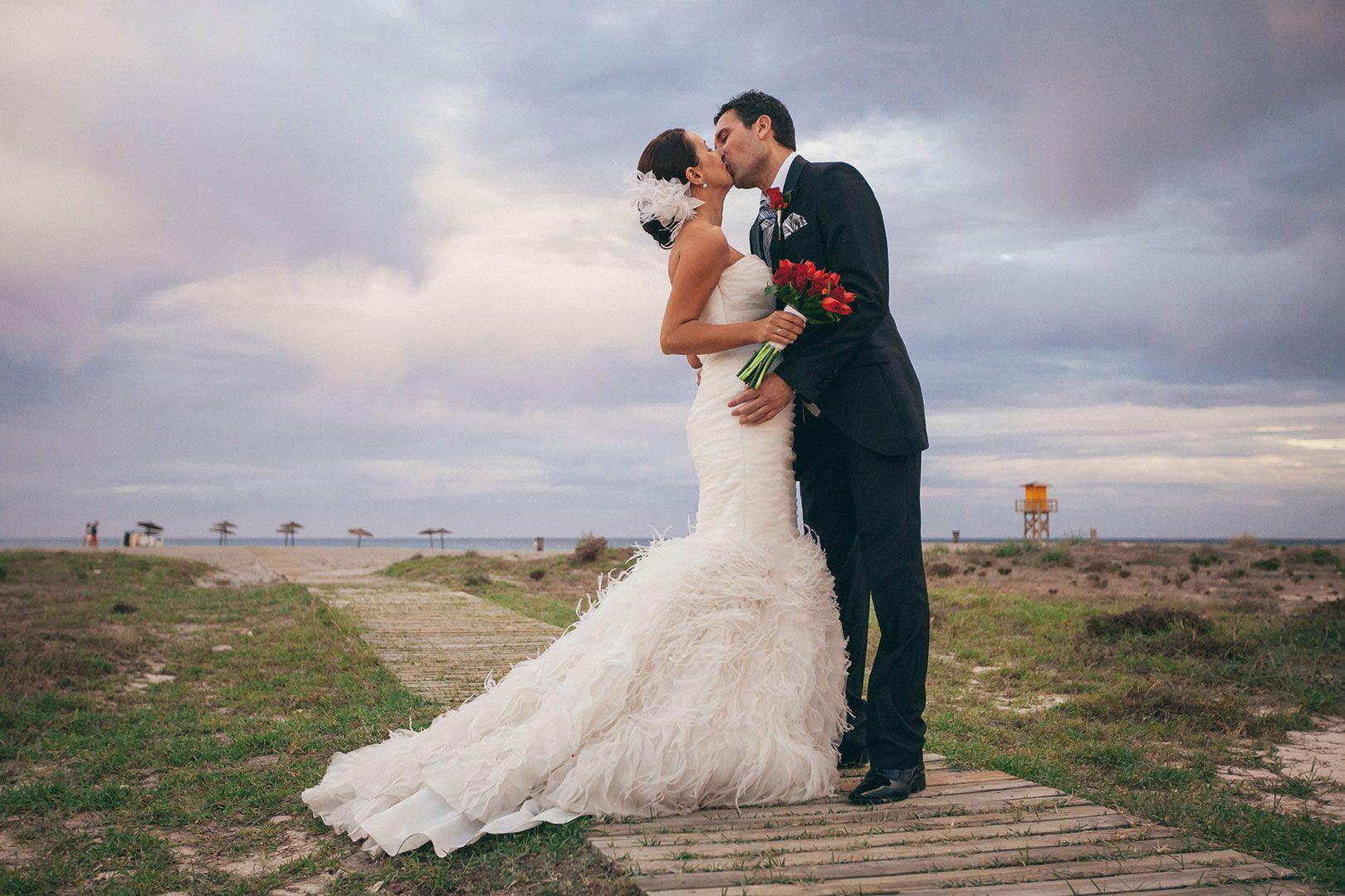El beso. El dia de la boda. Www.imagenesdemiboda.com