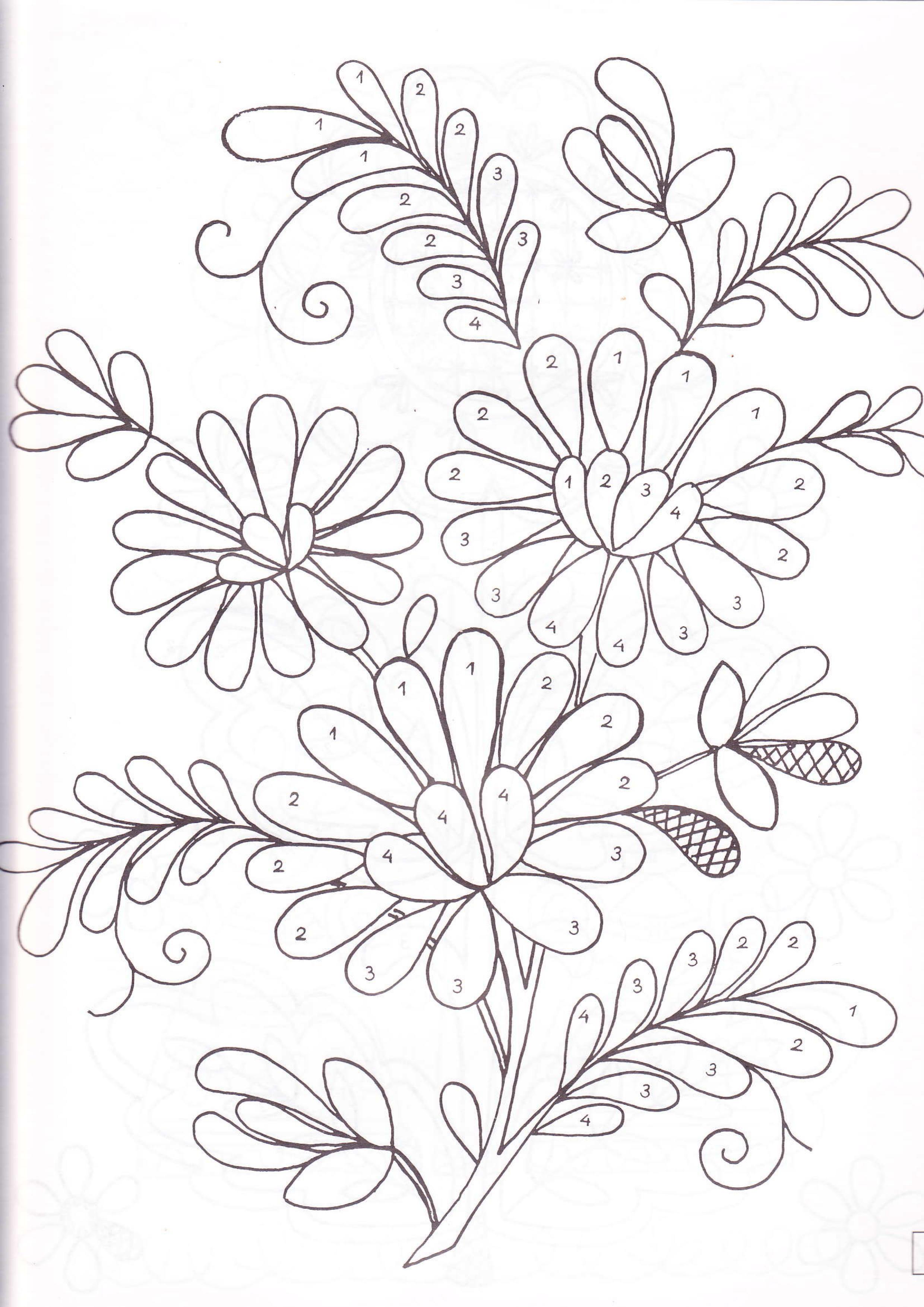 Pin by Neha Saney on colouring | Pinterest | Bordado, Bordado ...