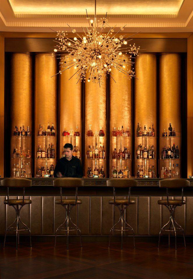 Baku Azerbaijan Bentley S Whiskey Bar Four Seasons Hotel Baku Hotelbar Fourseasons Desain Kafe Komersial