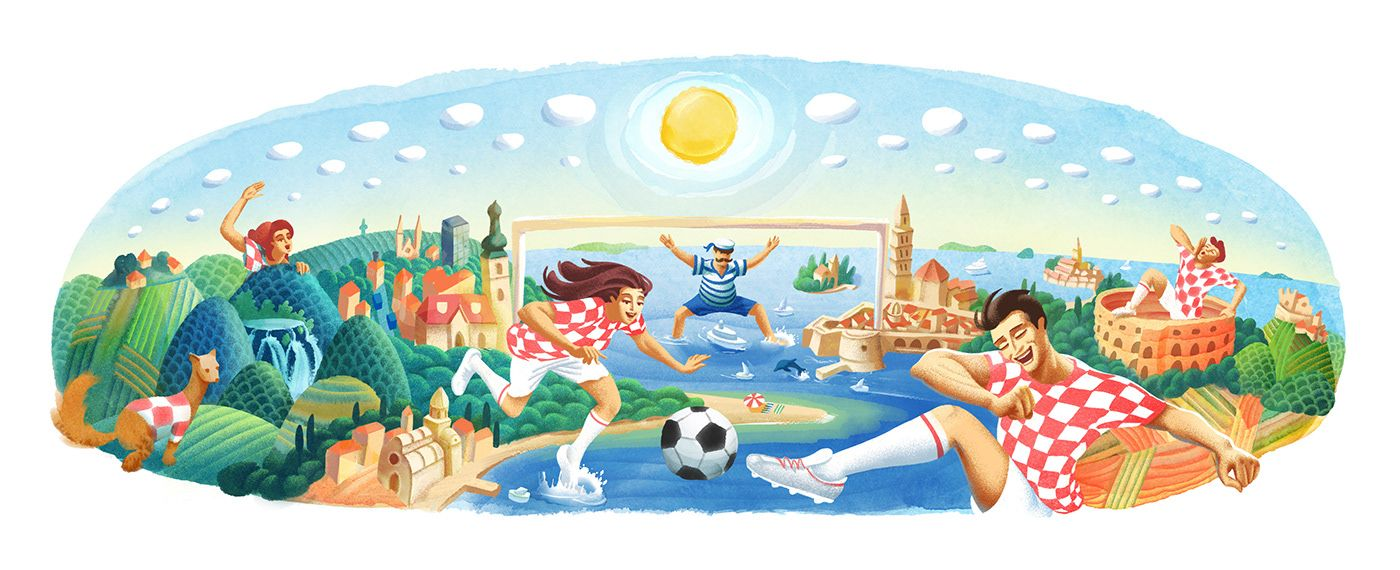 Google Doodle World Cup 2018 Croatia on Behance by