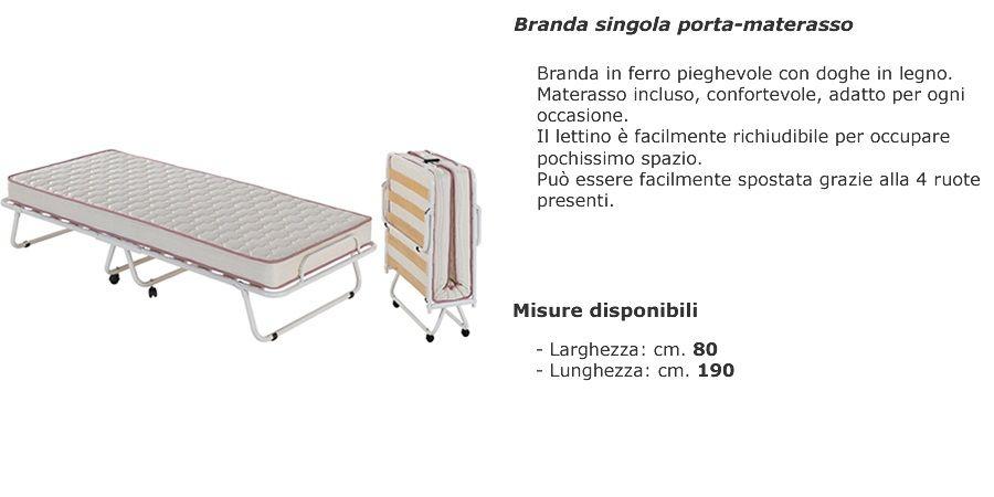 Materassi E Reti On Line.Branda Singola Porta Materasso Materassi E Reti