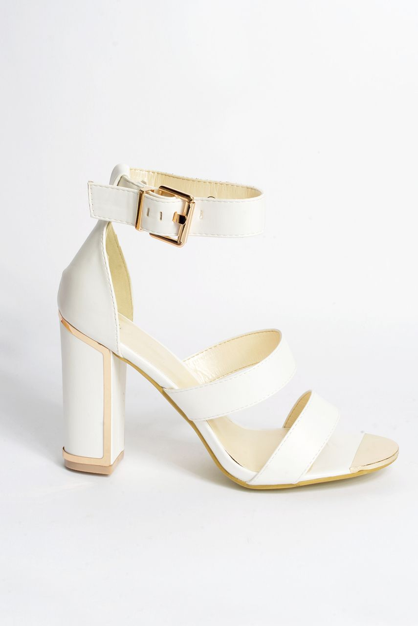 ad08acb4a Rubie White Cleated Heeled Sandal