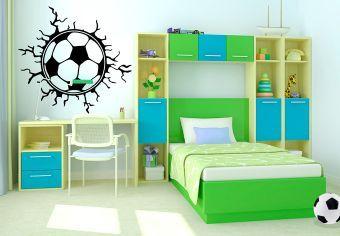 wandtattoo wandtattoo fu ball risse decora o pinterest wandtattoo fu ball wandtattoo. Black Bedroom Furniture Sets. Home Design Ideas