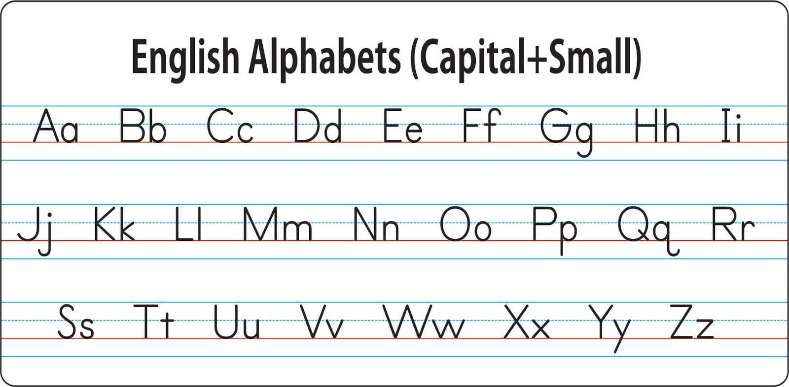 Image Result For English Alphabet In Four Lines