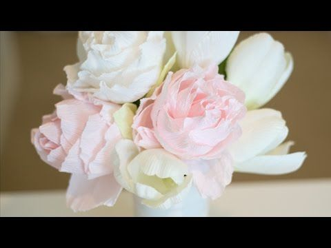 How To Crepe Paper Peony Diy Diy Tutorial Guidecentral Youtube