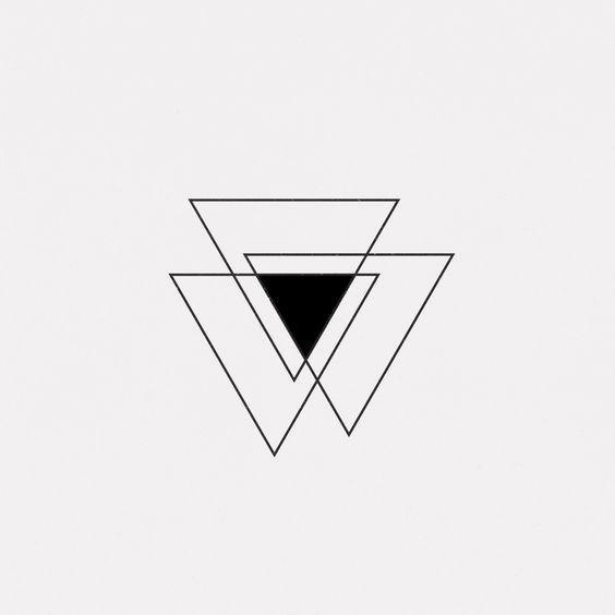 Creative Triangle Tattoo Ideas Pop Tattoo Sibling Tattoos