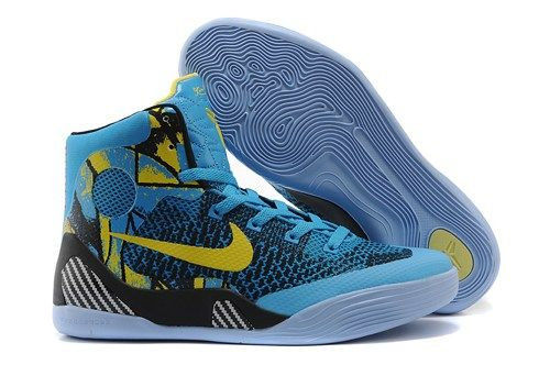 18db04e8bd1 ... france nikes zoom kobe 9 em mid top women basketball shoes blue black  yellow 990a1 374bd