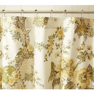 Florian Palampore Organic Shower Curtain Pottery Barn Flower