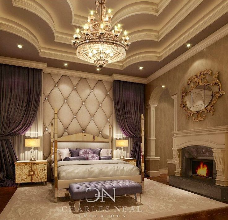 Ceiling/ Chandelier/ Curtains/ Wall Panel