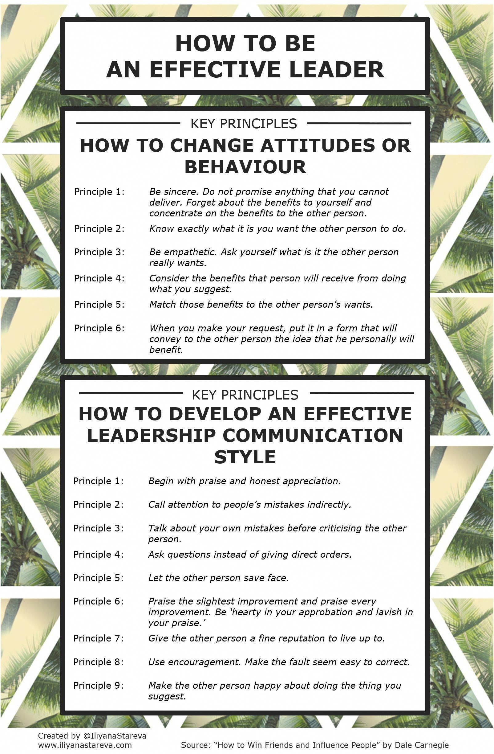 How To Be An Effective Leader Infographic Leadership