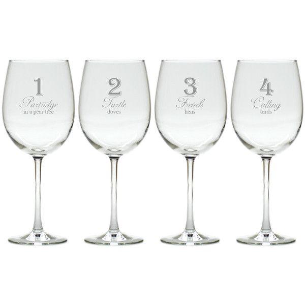 12 Days Of Christmas Wine Glasses Set Of 12 Christmas Wine Glasses Holiday Wine Glasses Christmas Wine