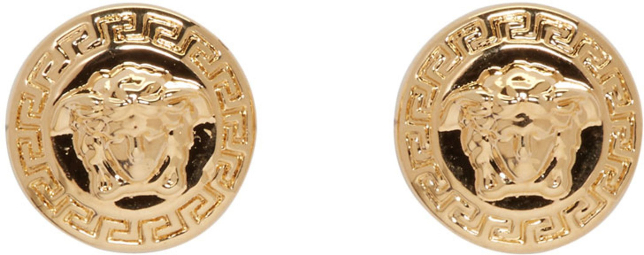 11523976f Versace - Gold Medusa Stud Earrings | Jewelry | Versace gold, Stud ...
