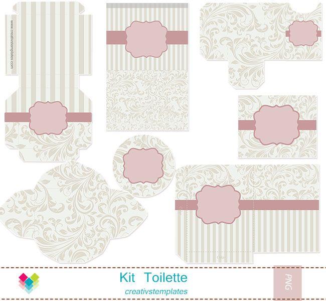 Kit toilette rosa e bege floral mod 849 kit toalete creativstemplates artes pinterest - Activite manuelle adulte gratuite ...